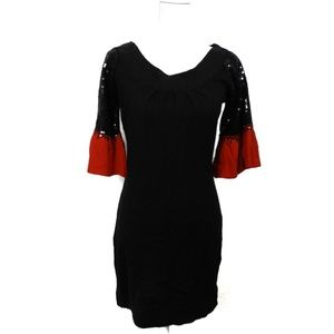 T783 Holiday Ready Arden B Sweater Dress Sequins M